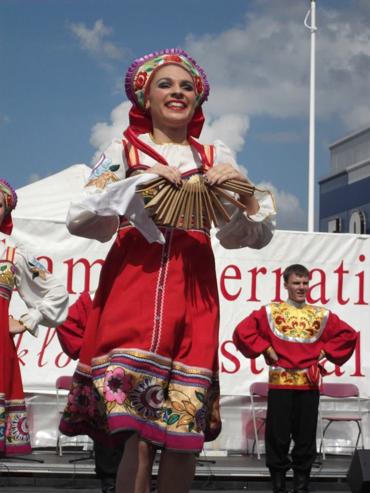 "Англия, Биллингем, Август 2012 (""XXXXVIII Billingham International folklore festival of world dance"", CIOFF)."